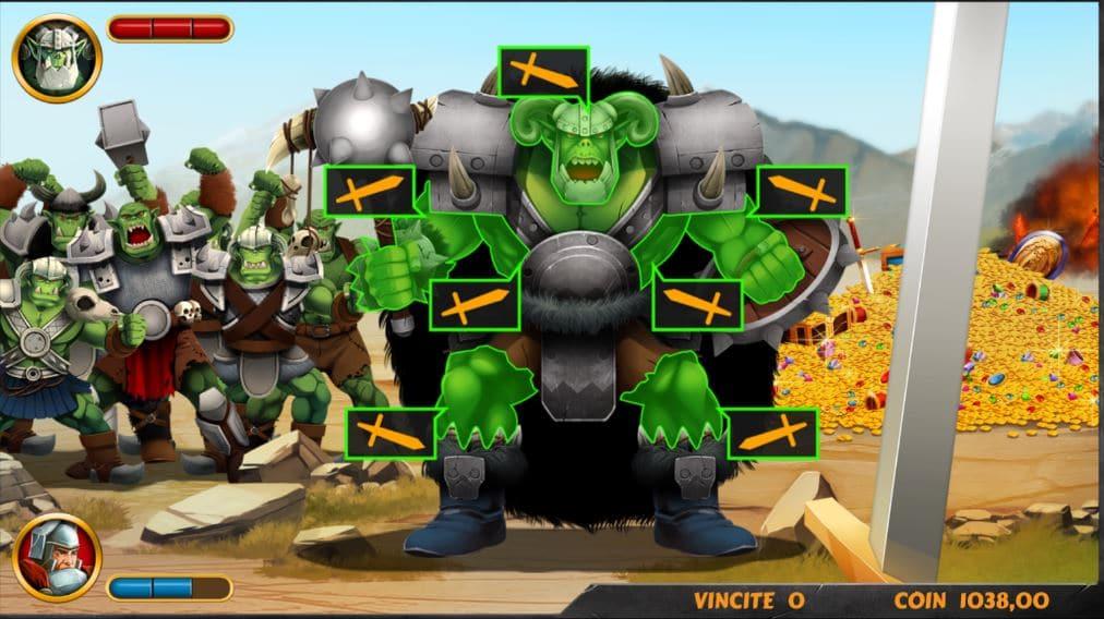 Gioco bonus della slot Knights Treasure