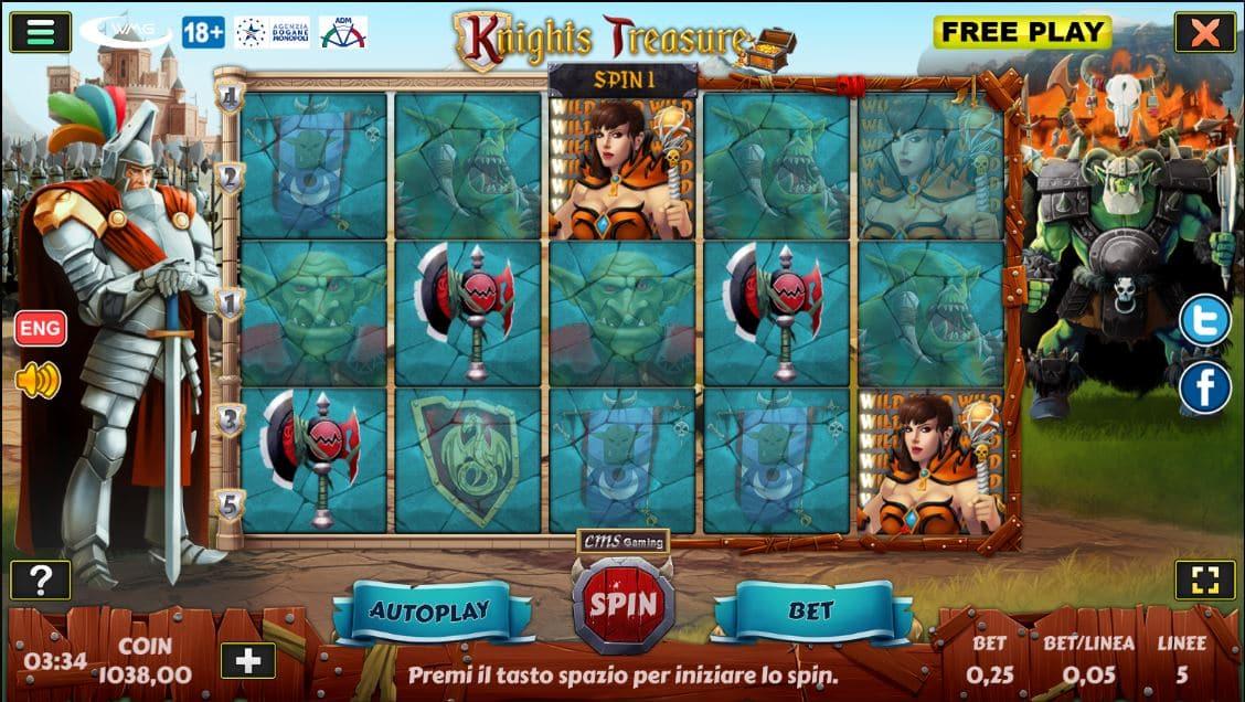 Slot Knights Treasure