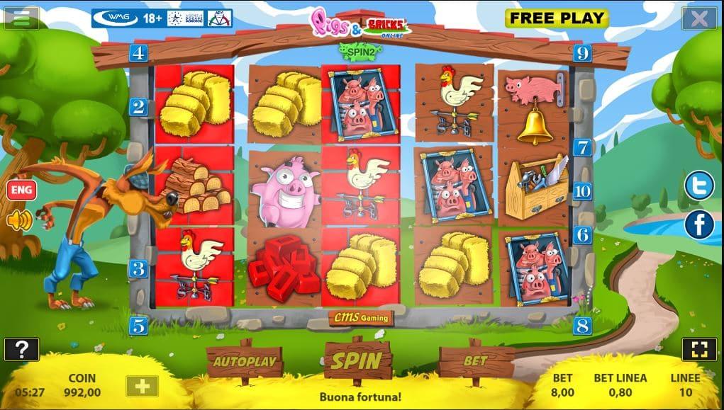 Slot Pigs and Bricks