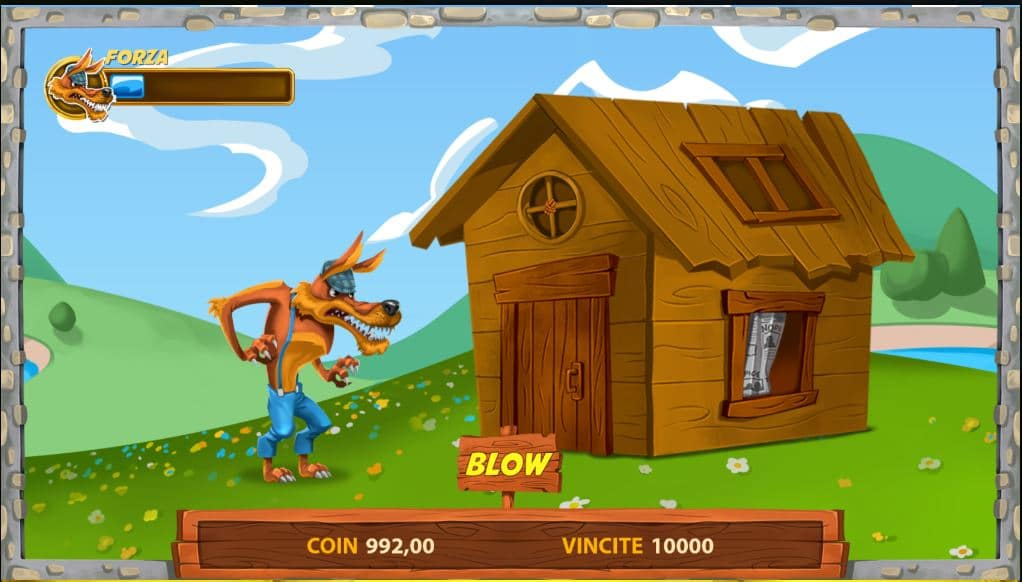 Bonus a tema slot Pigs and Bricks