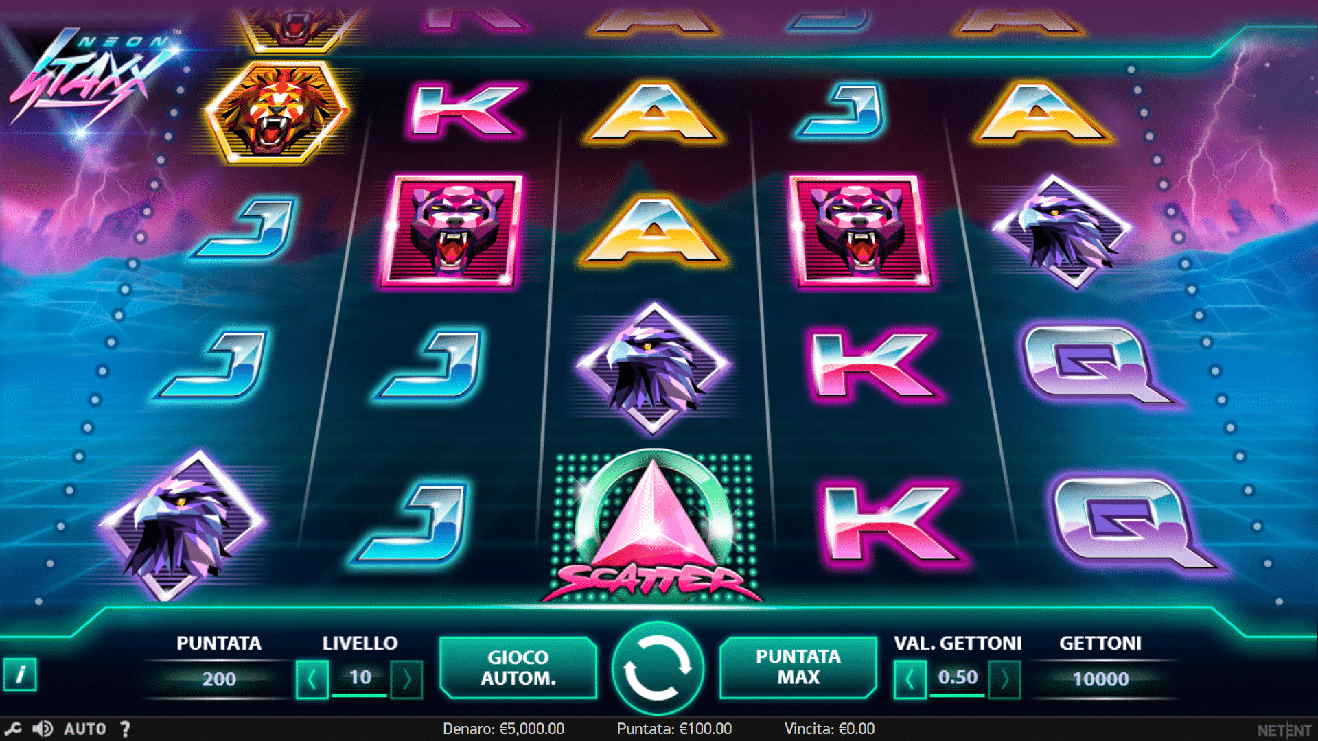 Slot Neon Staxx