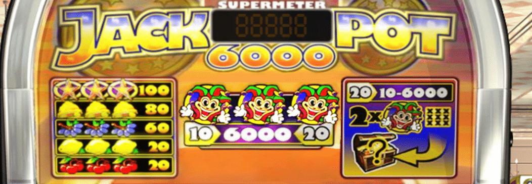Paytable della Jackpot 6000