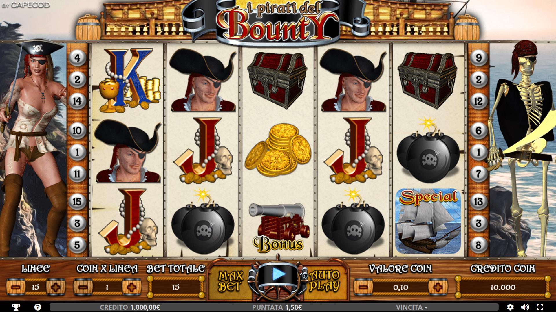 Slot I Pirati del Bounty