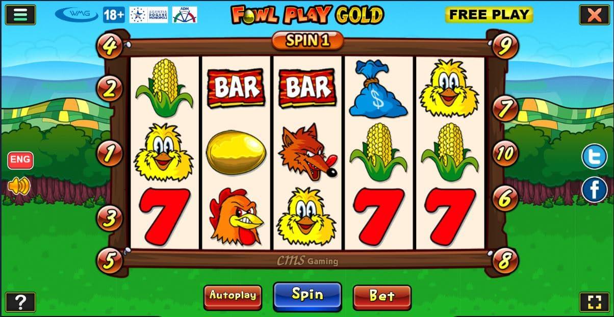 Slot gratis Fowl Play Gold Online