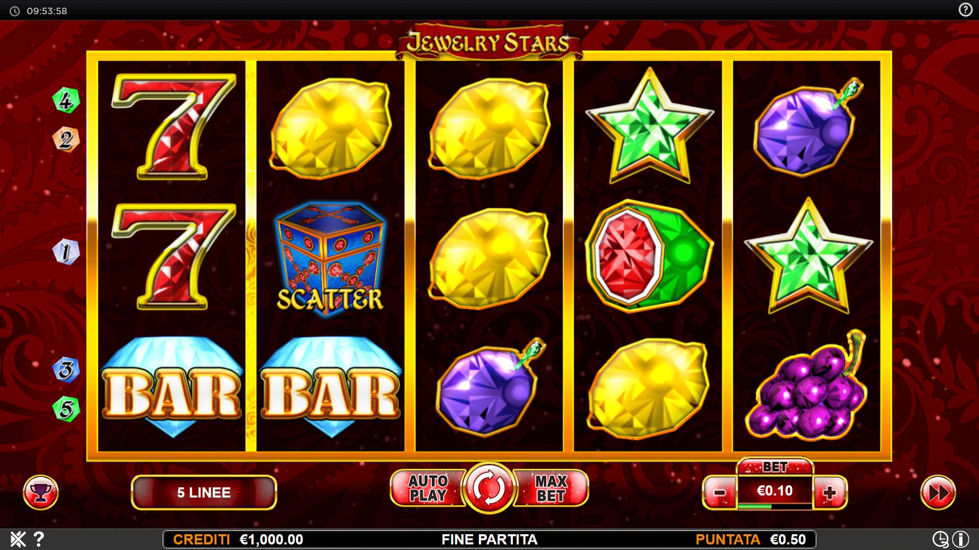 Slot Jewelry Stars