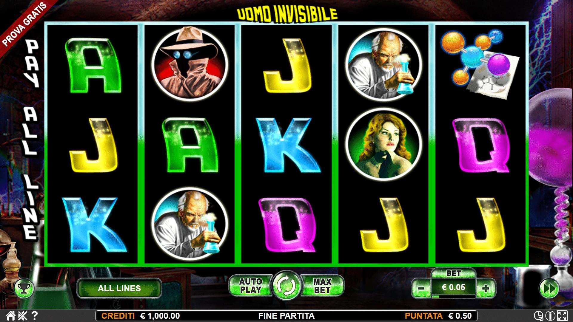 Slot Uomo Invisibile