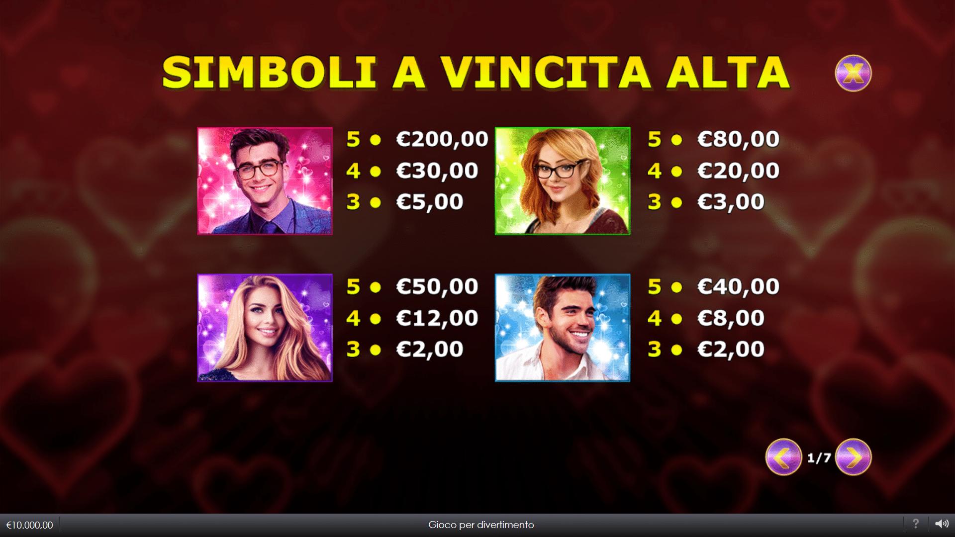 Tabella Pagamenti Slot gratis Lovefool