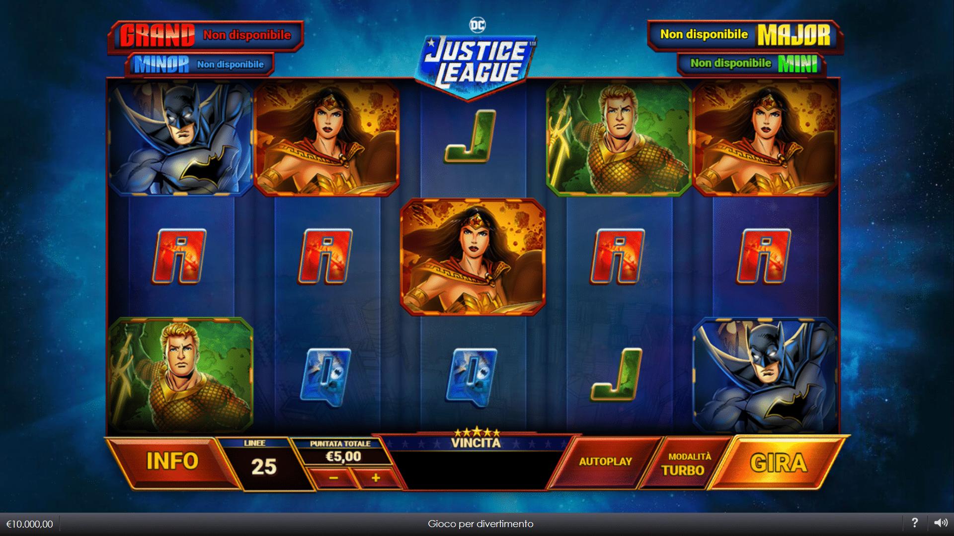 Slot Justice League Comic