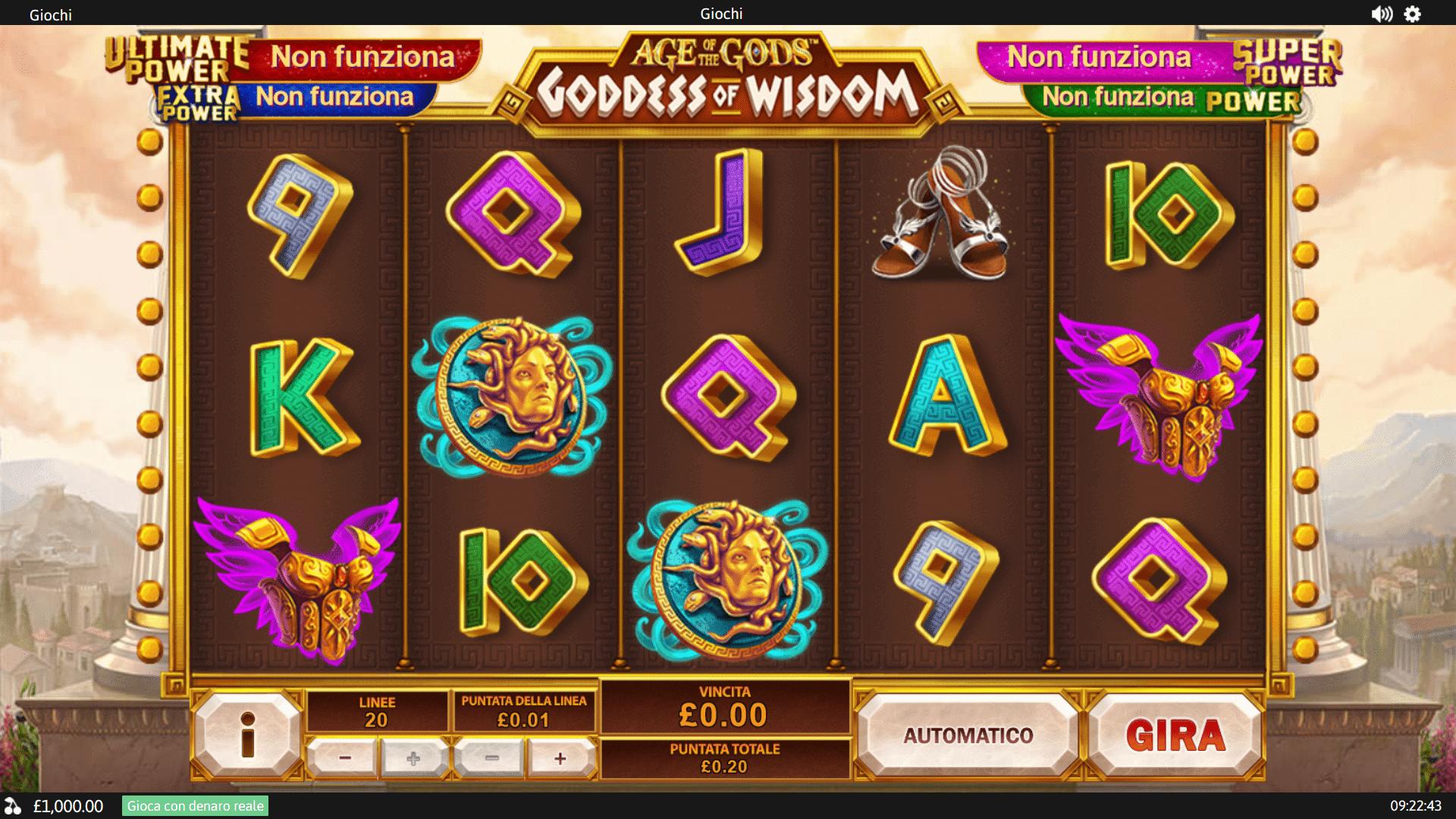 Slot Age of the Gods Goddess of Wisdom