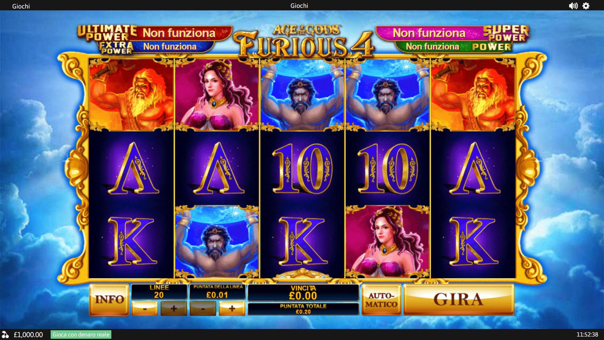 Slot Age of the Gods: Furious 4