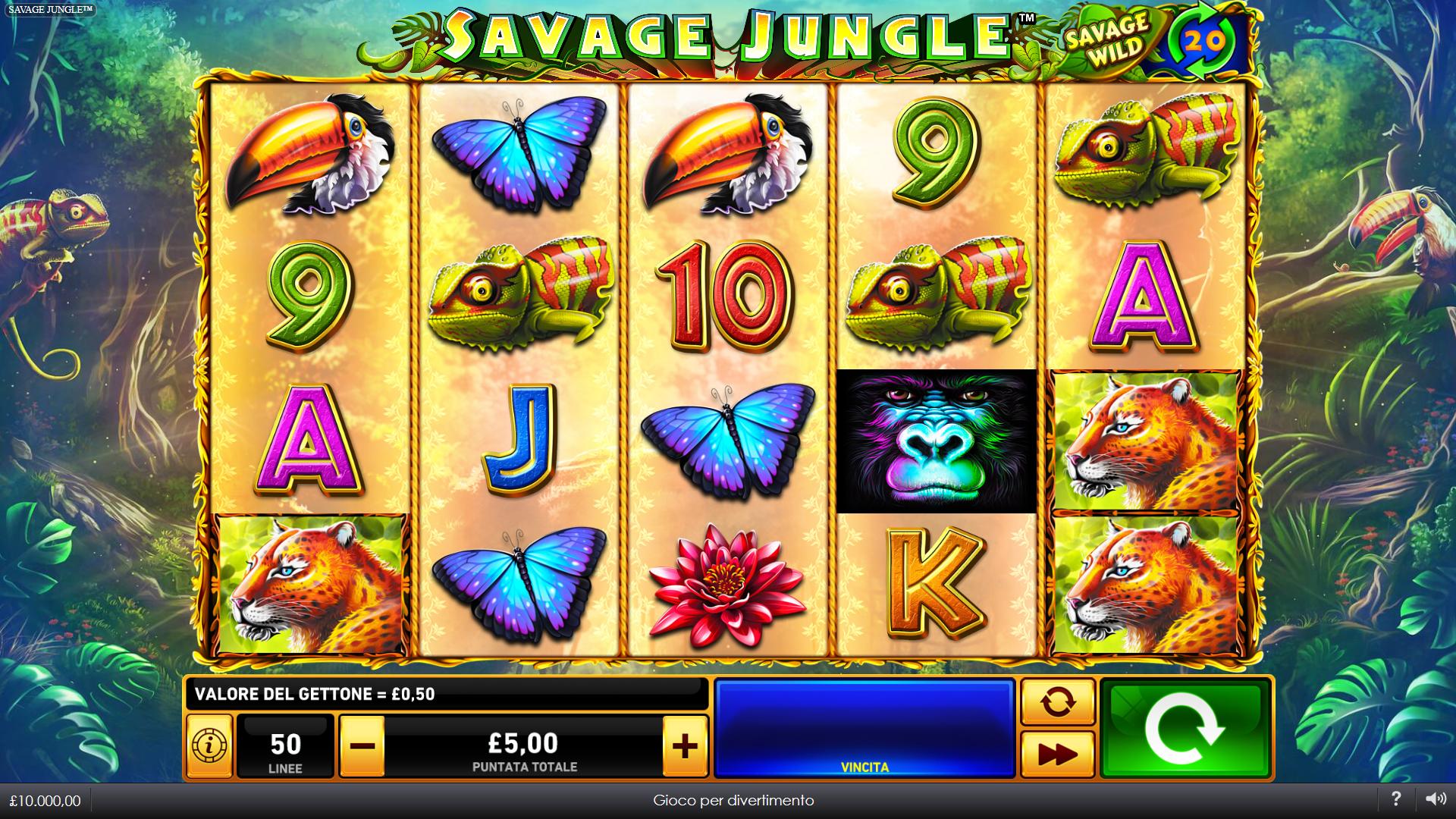Slot Savage Jungle