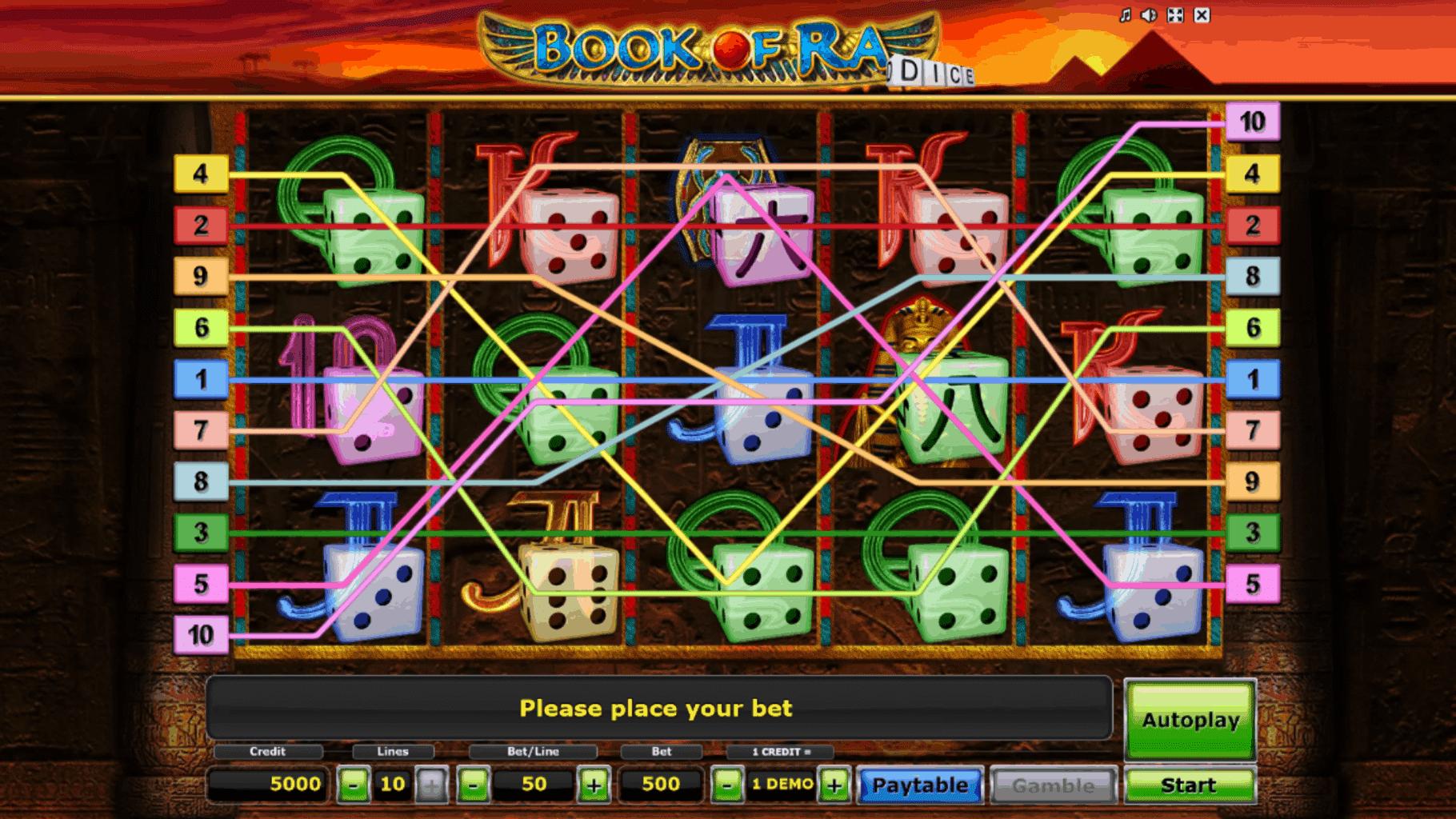 Slot Book of Ra Dice