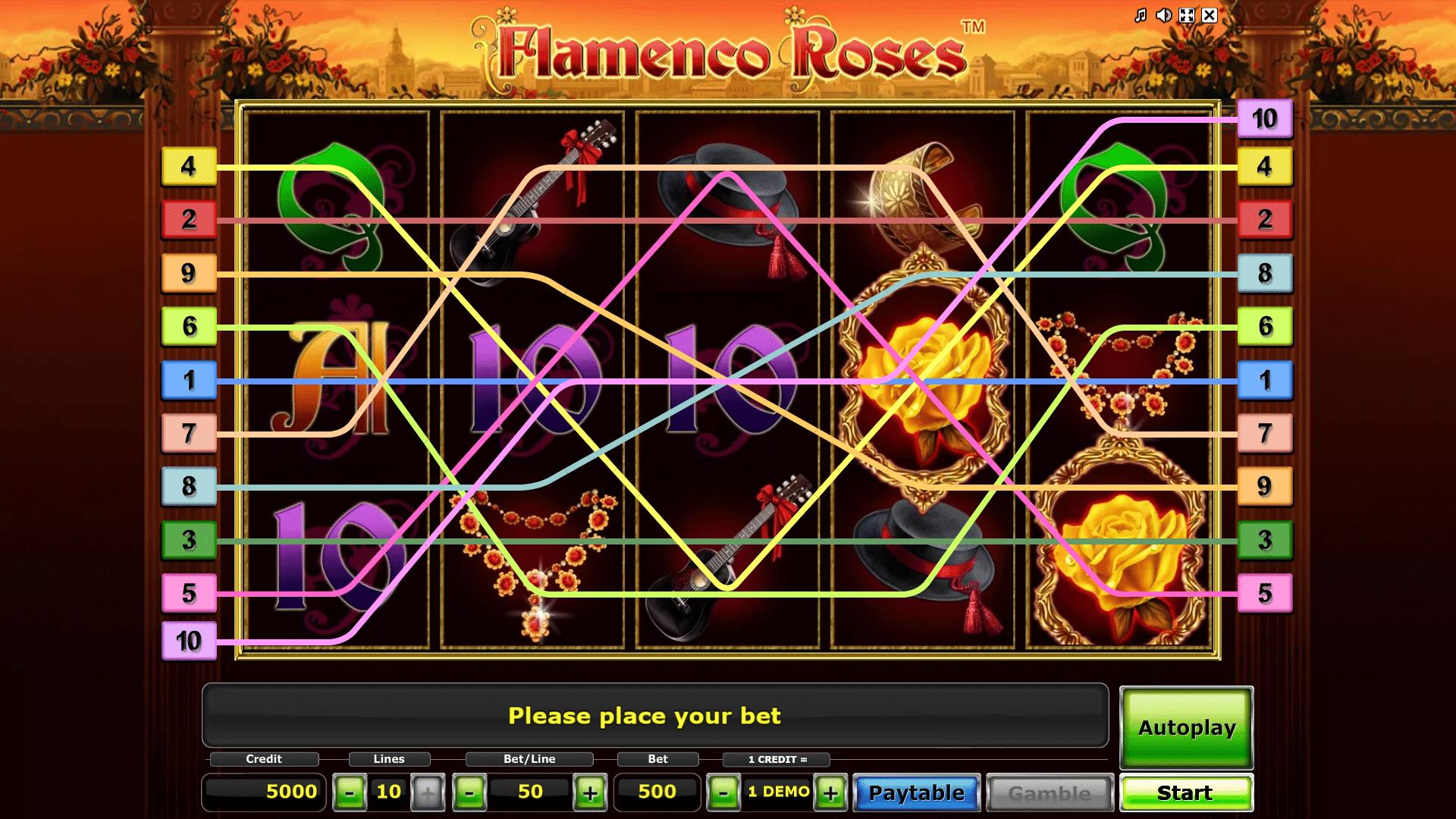 Slot Flamenco Roses