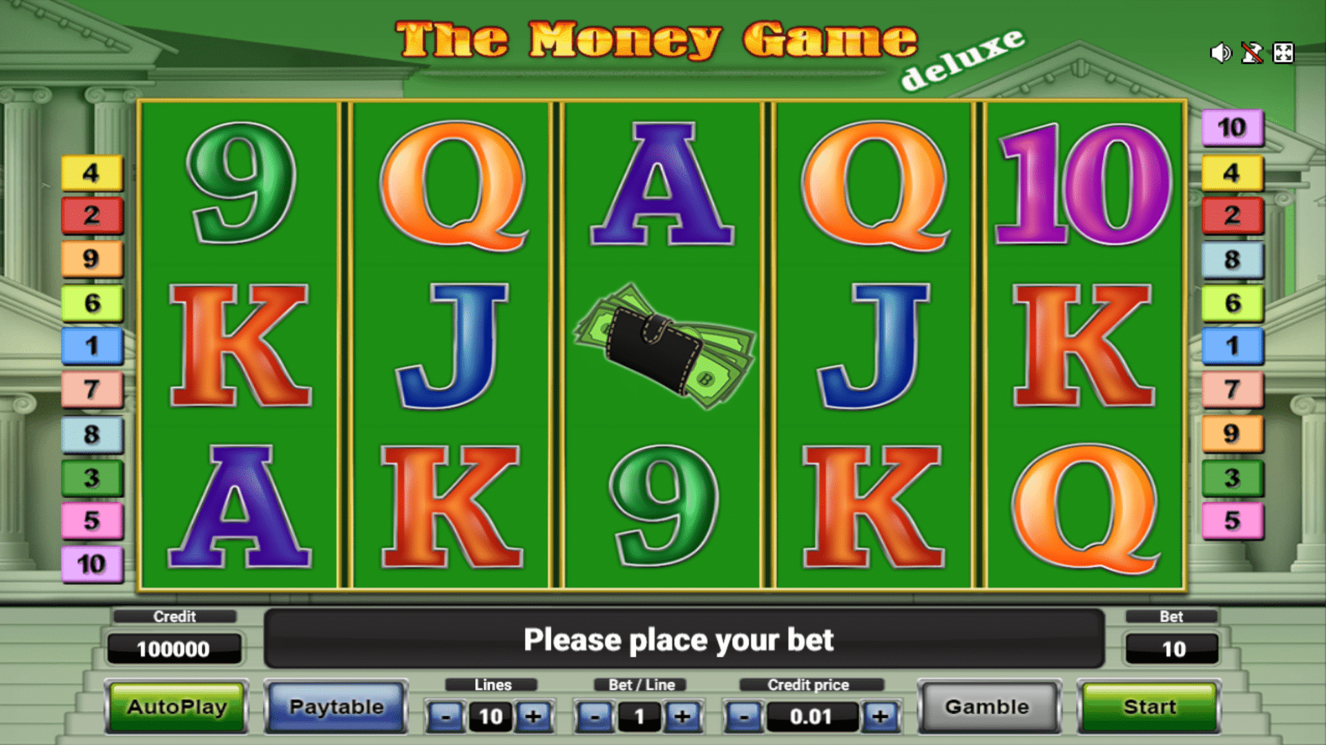 Slot The Money Game Deluxe
