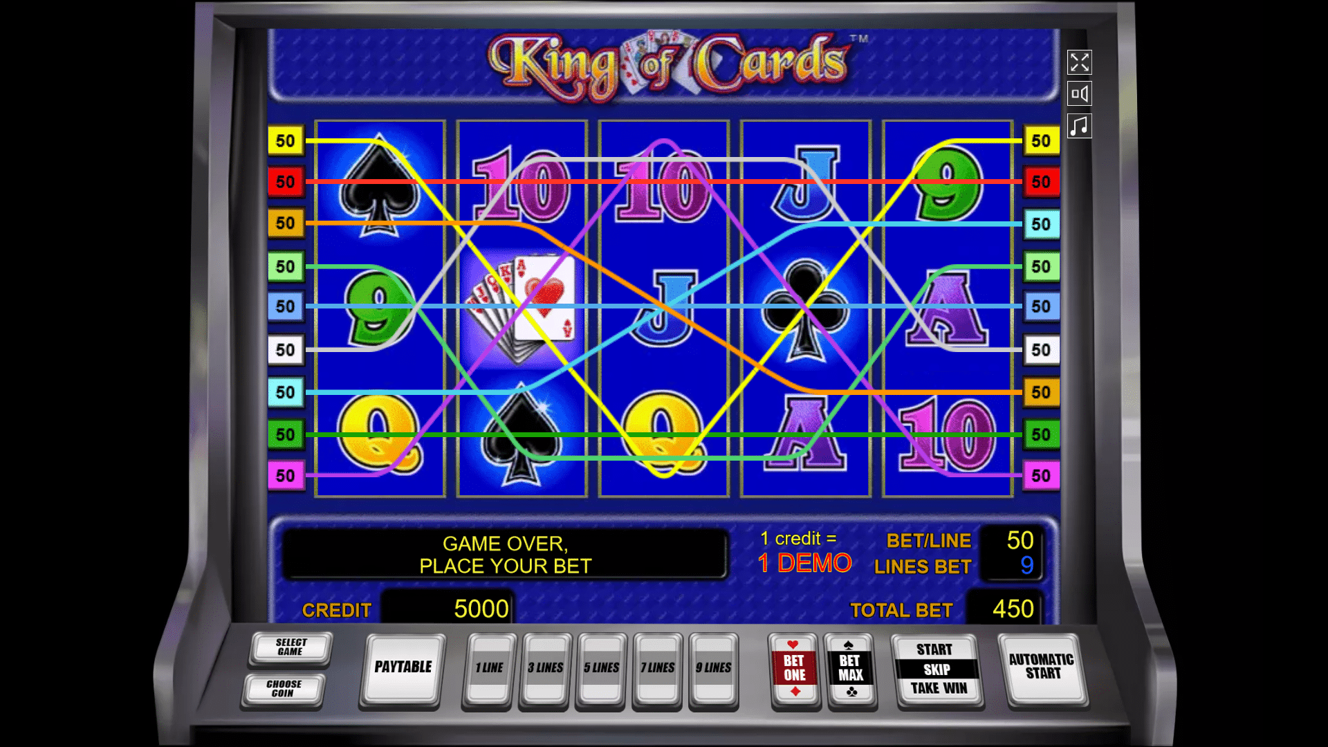 Slot King of Cards