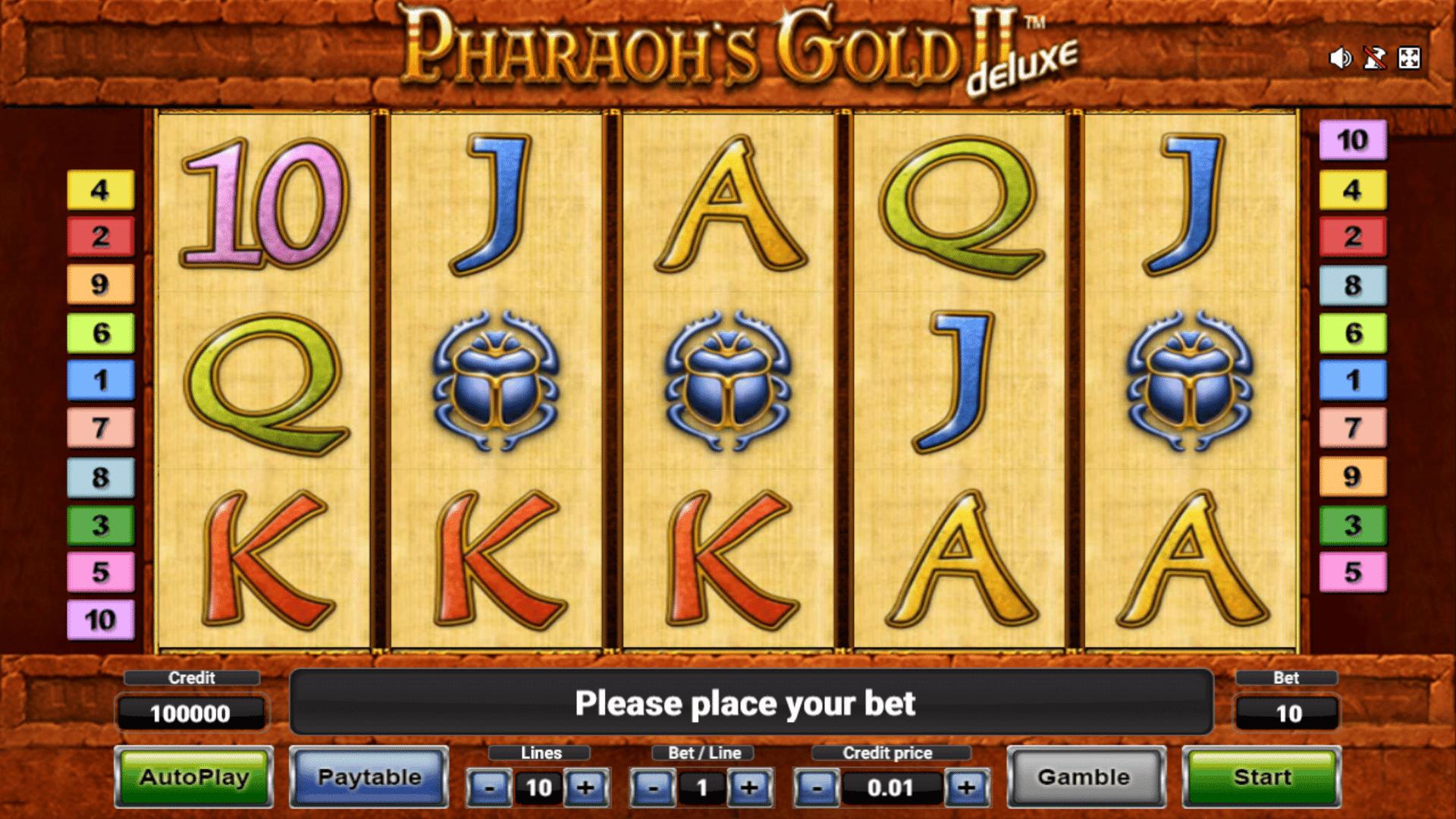 Slot Pharaoh's Gold II Deluxe