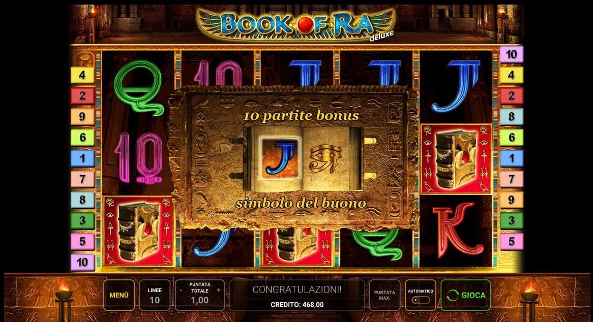 Bonus della Slot gratis Book Of Ra Bingo