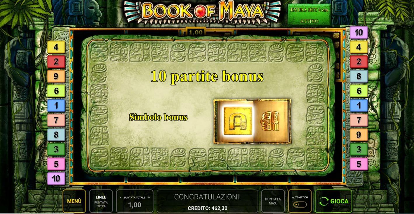 Bonus Freespin della Slot gratis Book Of Maya