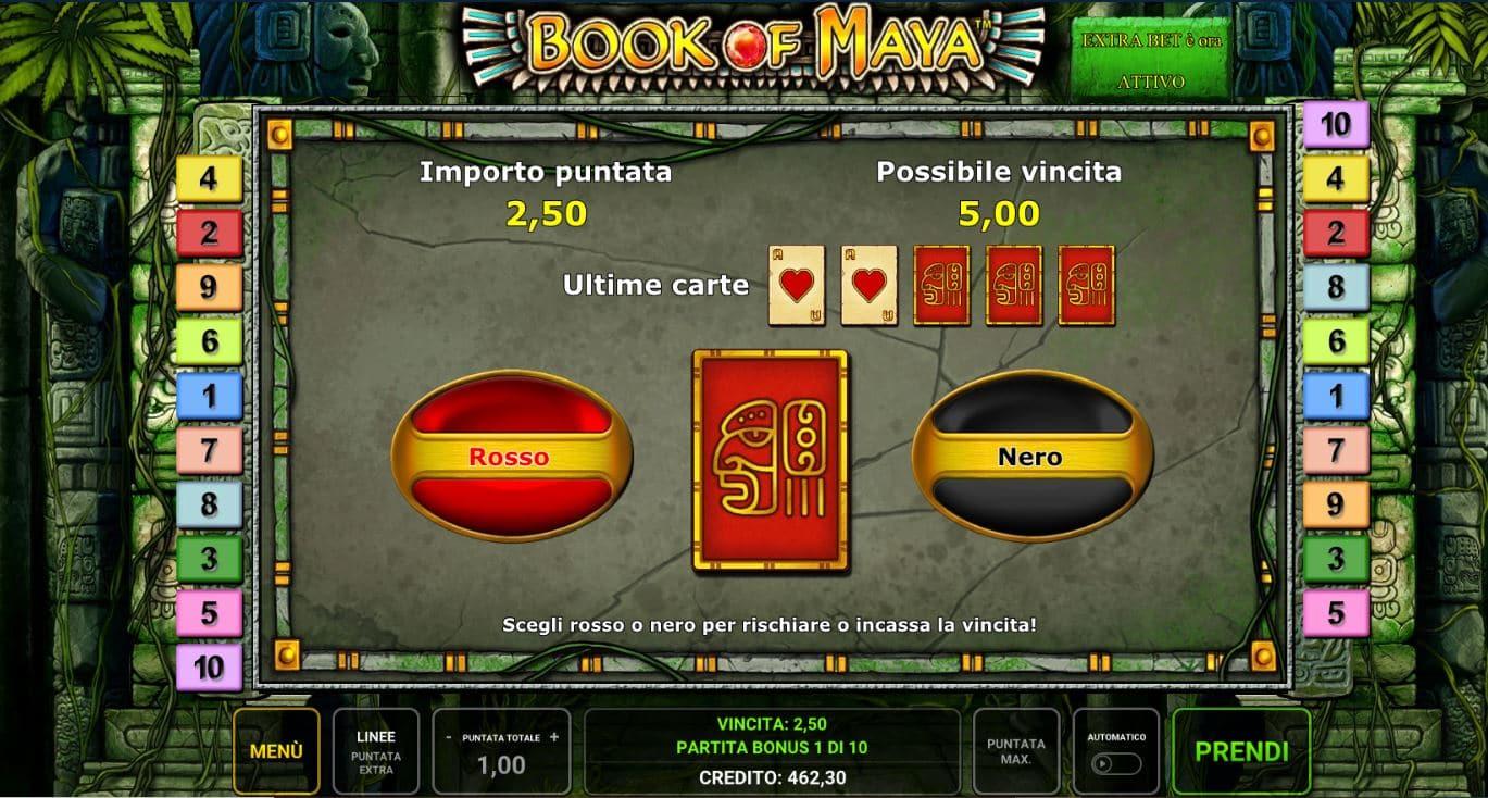 Funzione Rischio della Slot gratis Book Of Maya