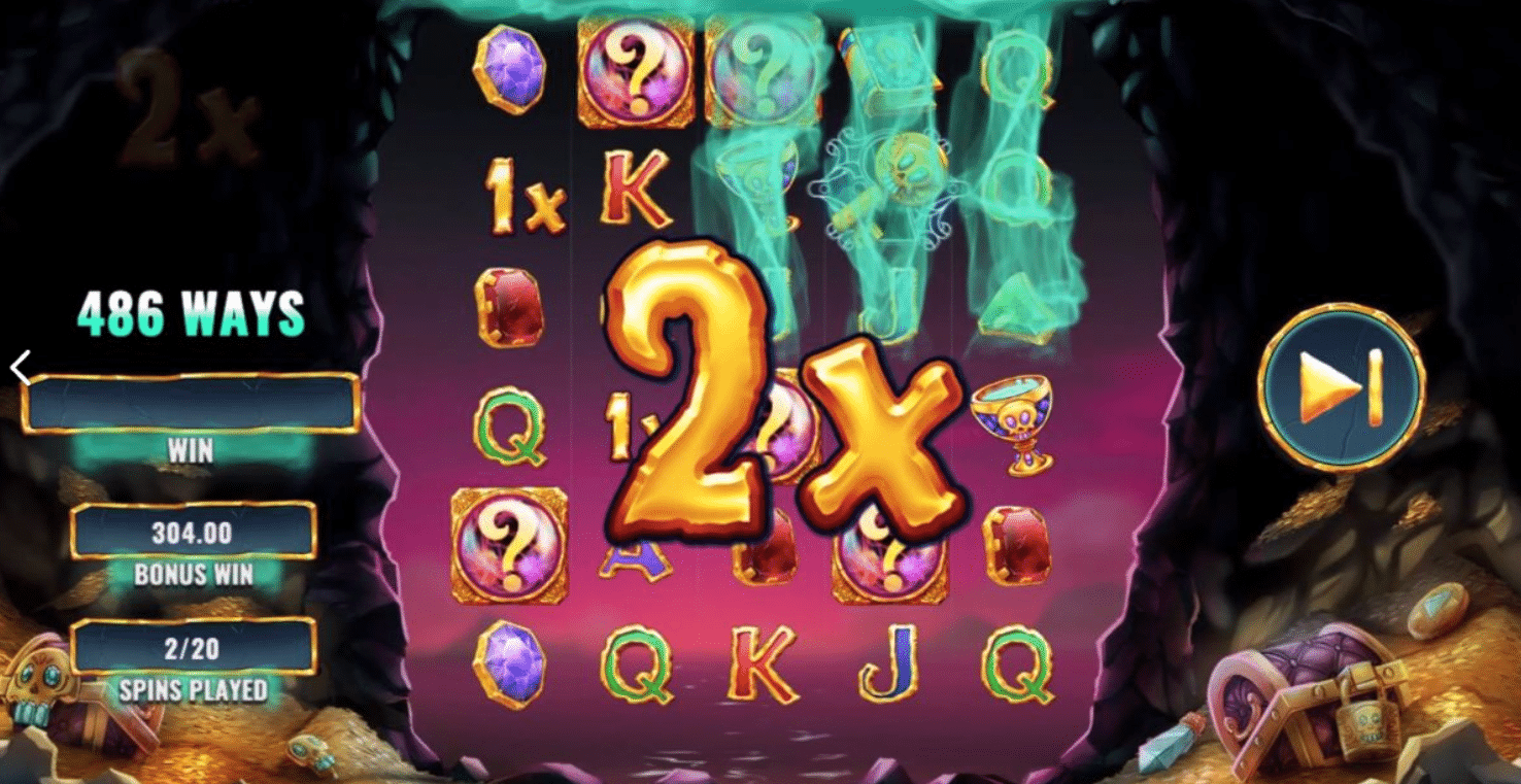 Moltiplicatore nella Slot gratis Skeleton Key