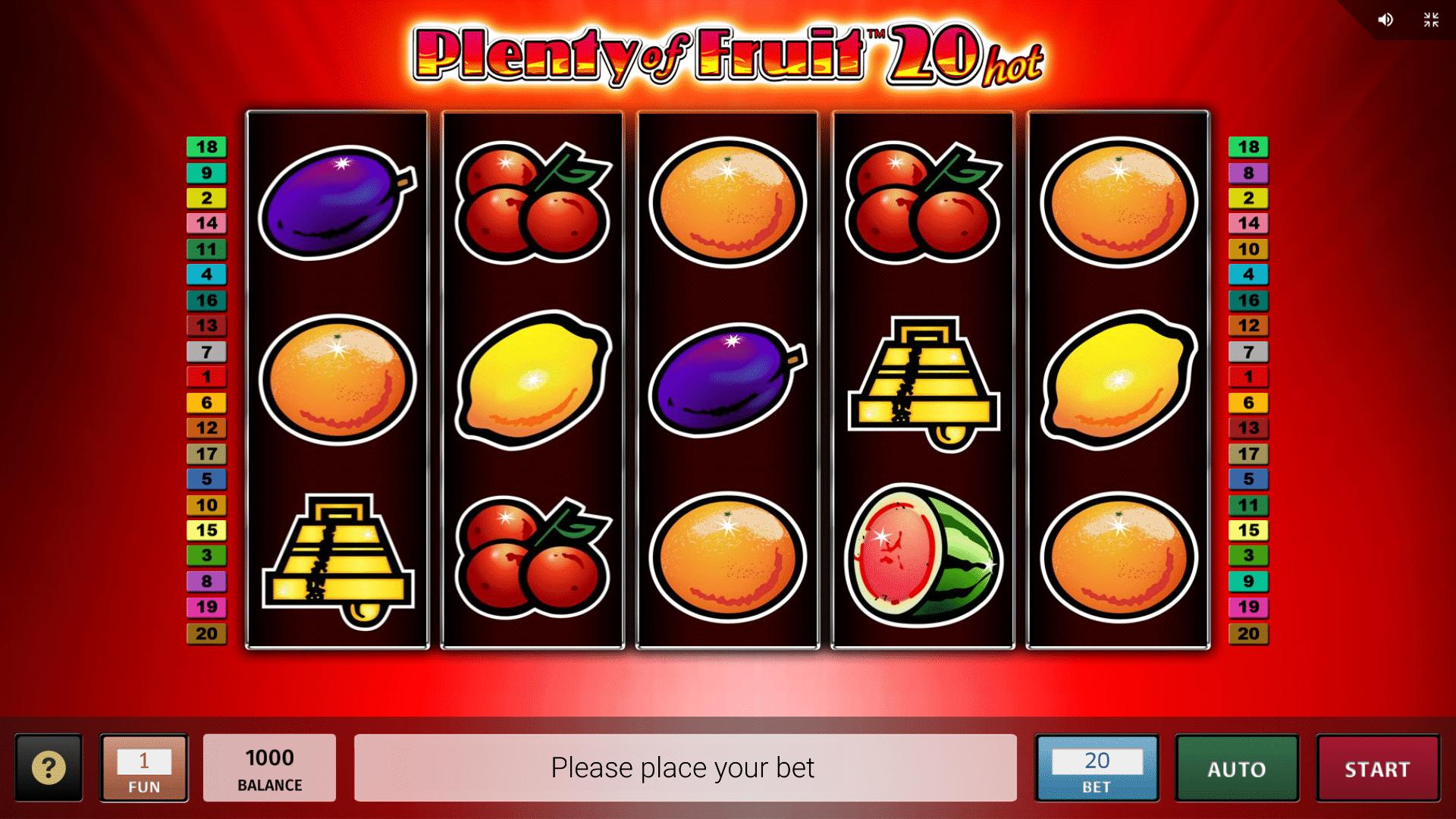 Slot Plenty of Fruit 20
