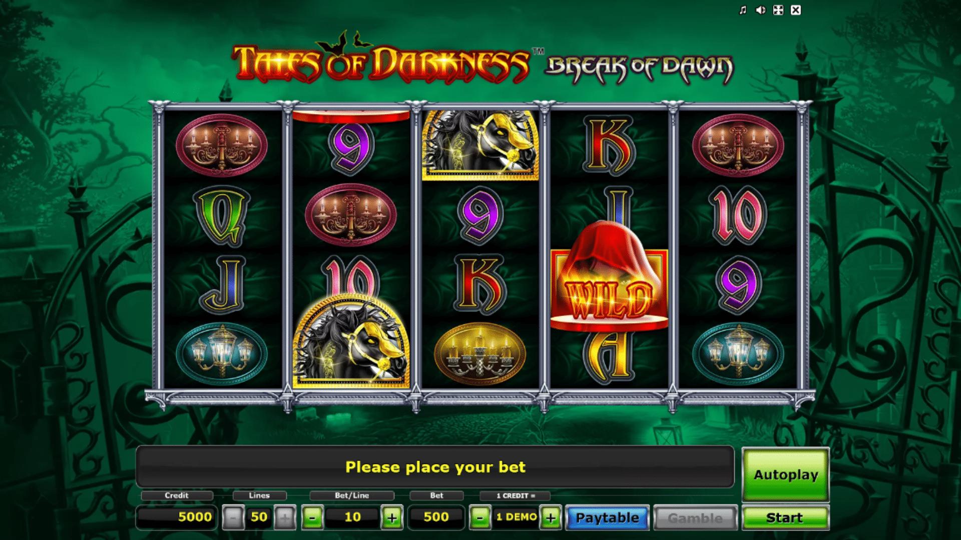 Slot Tales of Darkness Break of Dawn