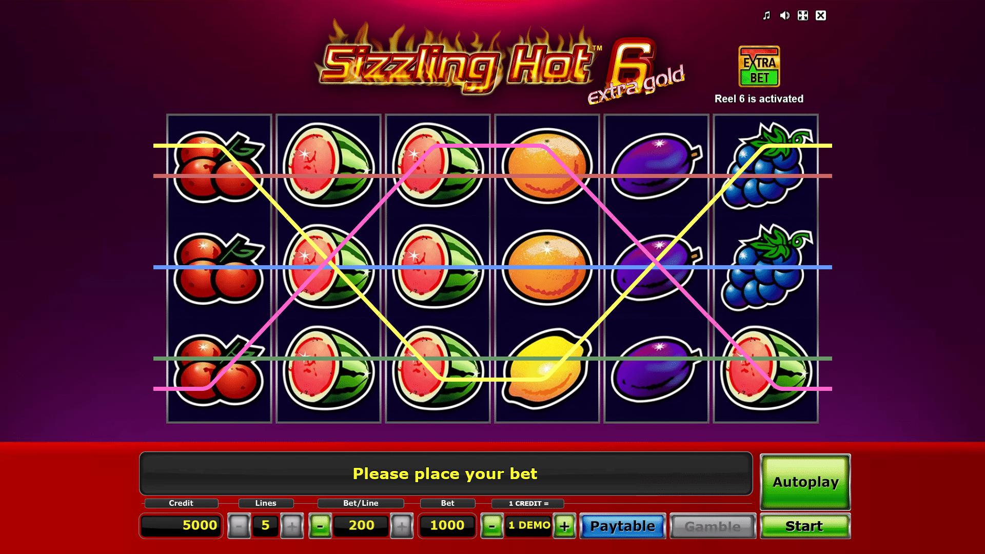 Slot Sizzling Hot 6 Extra Gold