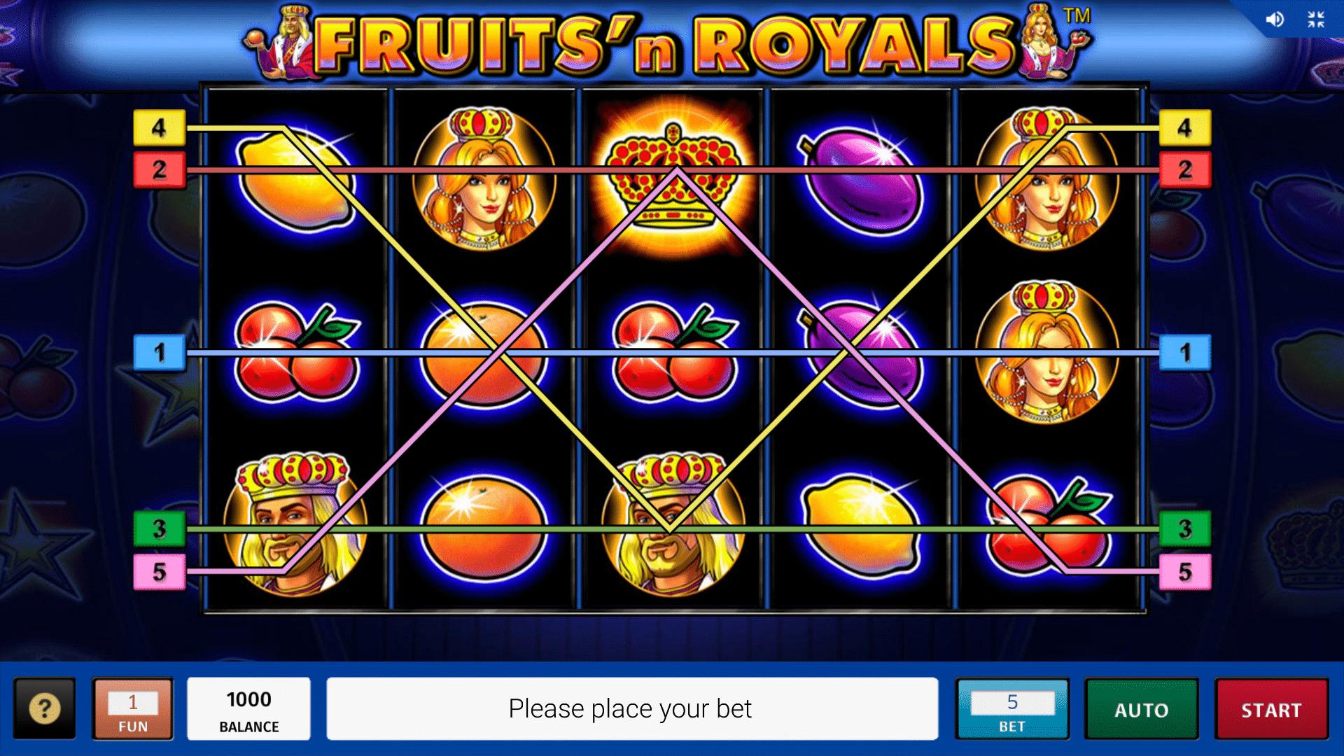 Slot Fruits´n Royals