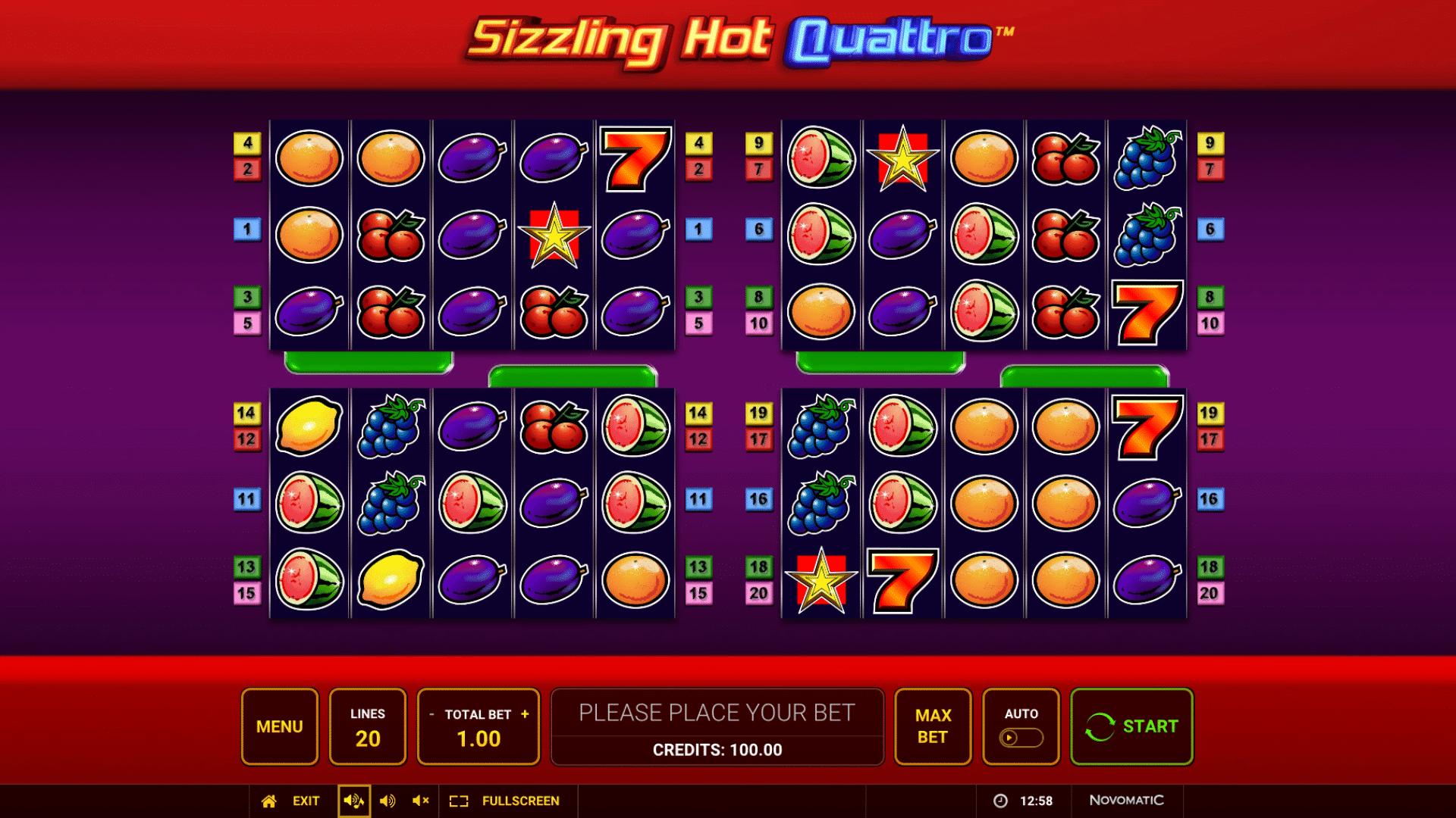 Slot Sizzling Hot Quattro