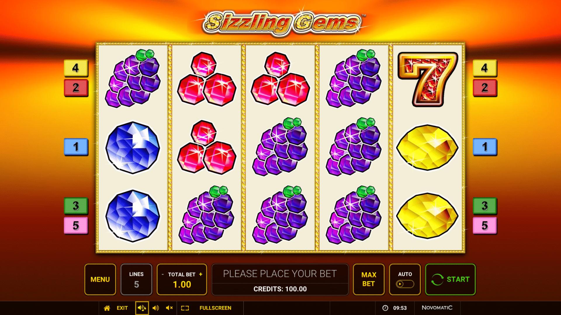 Slot Sizzling Gems