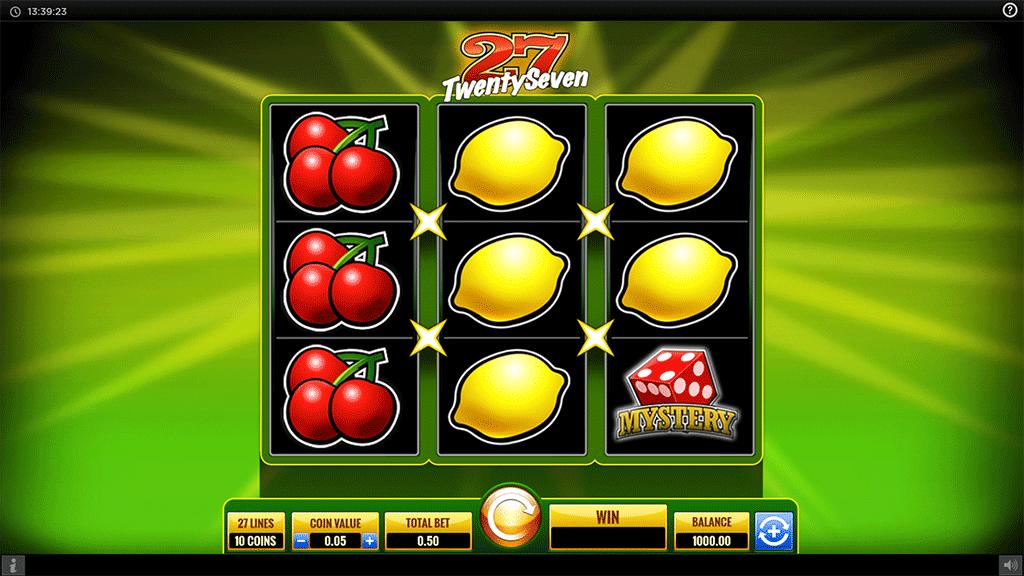 Slot Twenty Seven