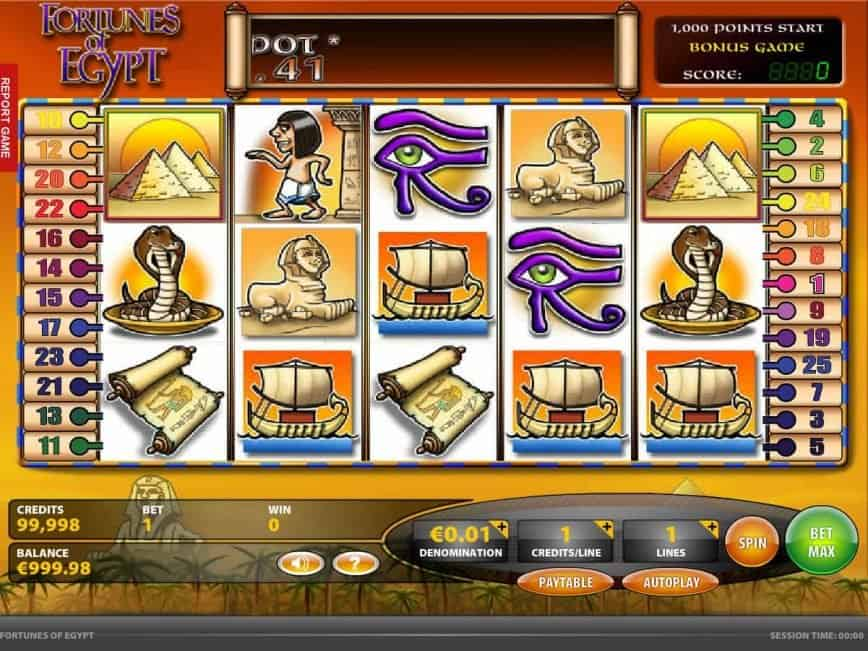 Jackpot Slot gratis Fortunes of Egypt