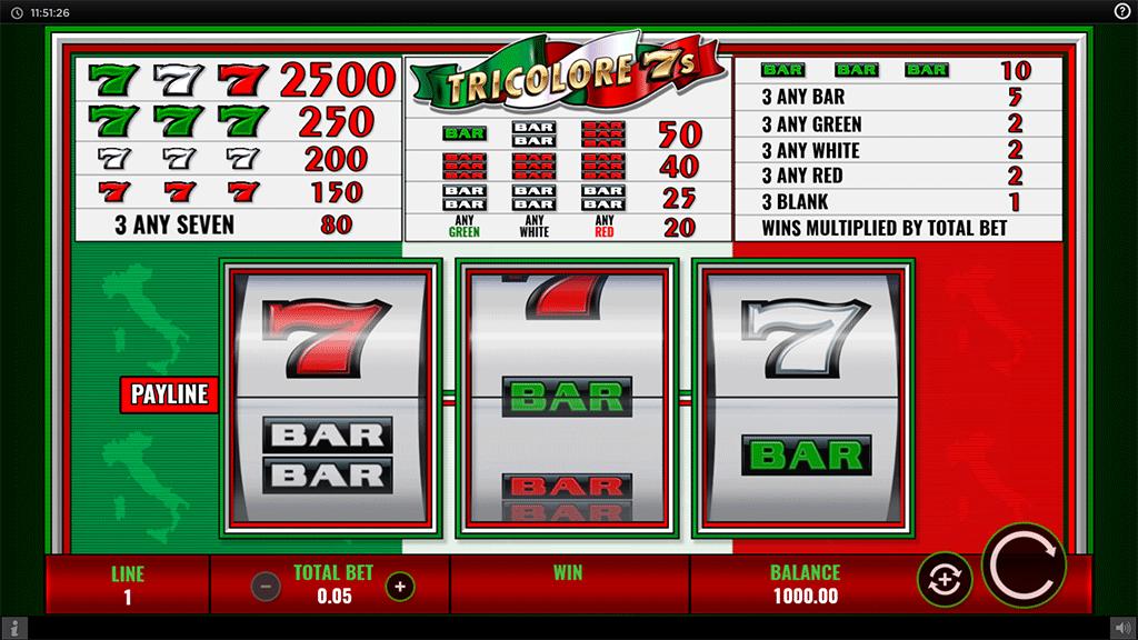 Slot Tricolore 7s