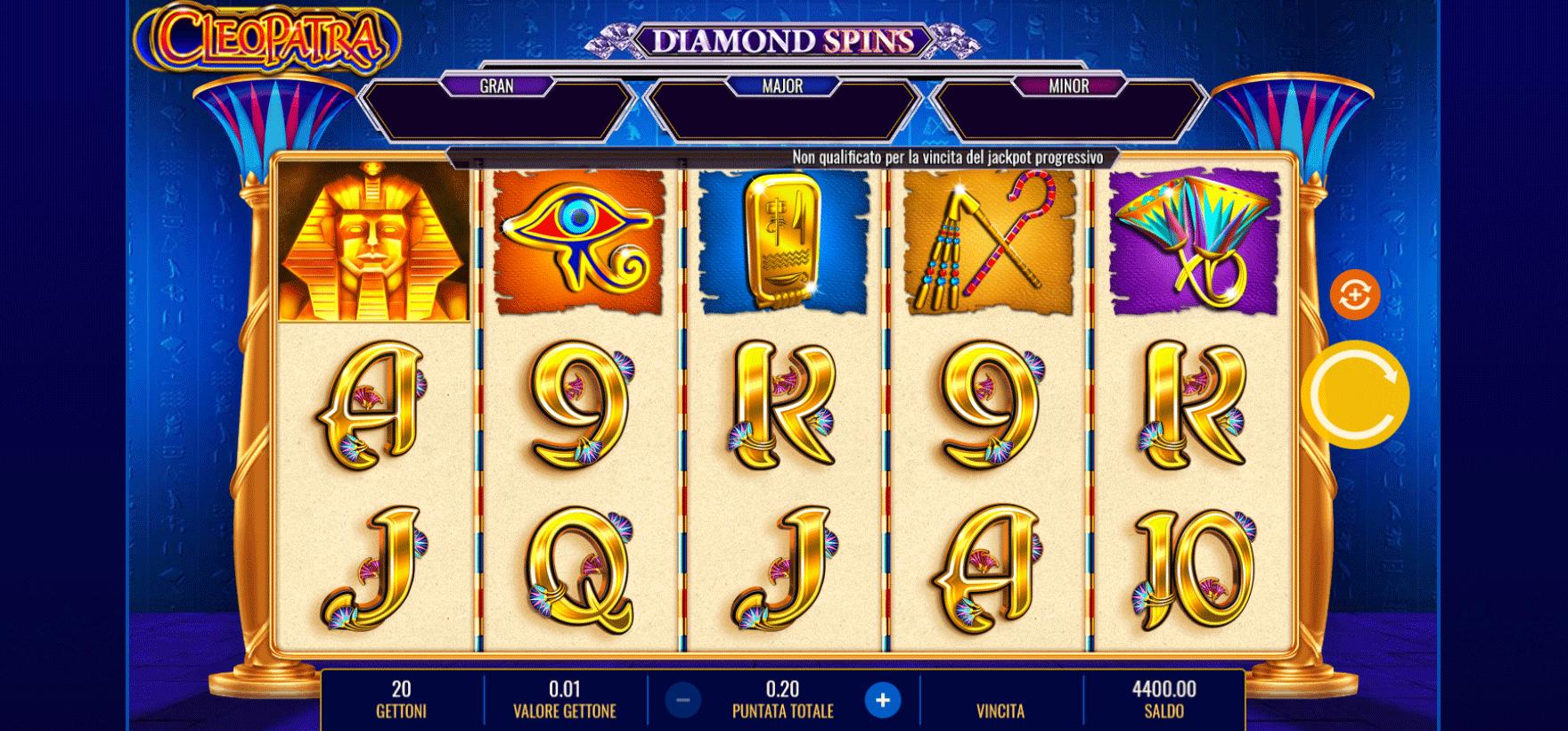 Slot Cleopatra Diamond Spins