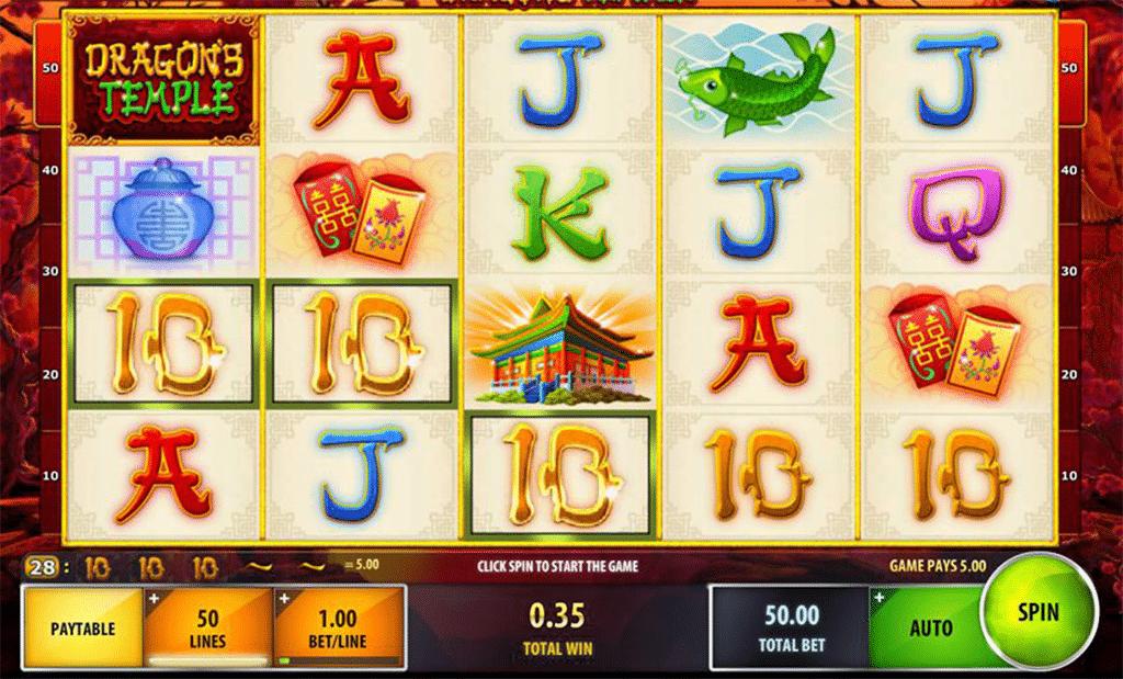 vincita alla slot online dragons temple