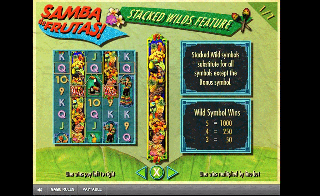 tabella pagamenti slot samba de frutas online