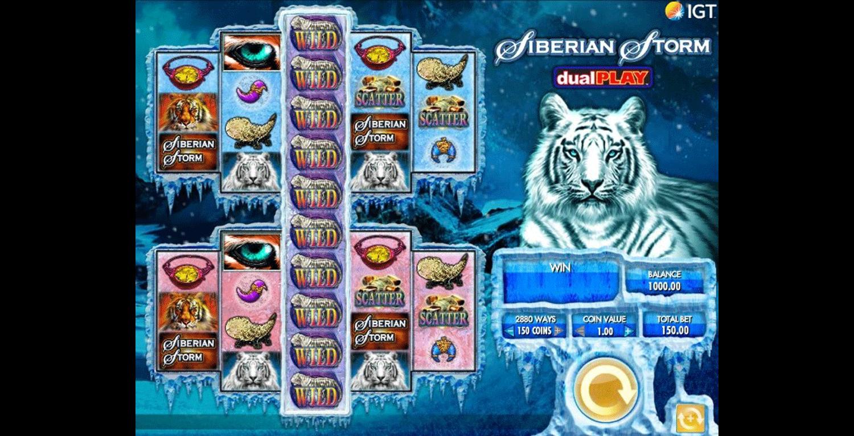 combinazione vincente slot machine siberian storm dual play