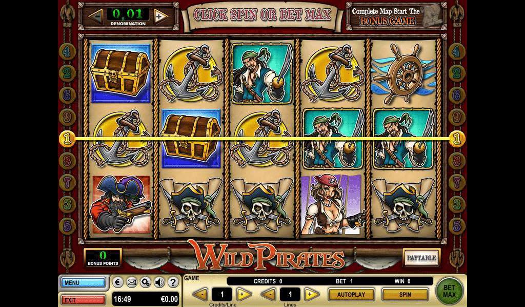 combinazione vincente slot online wild pirates