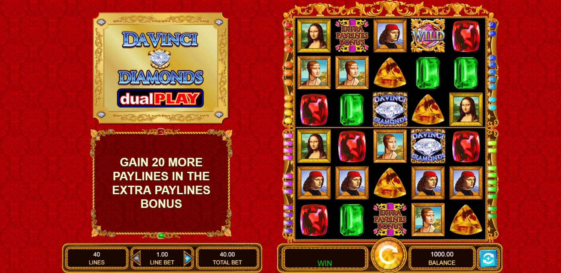Slot Da Vinci Diamonds Dual Play