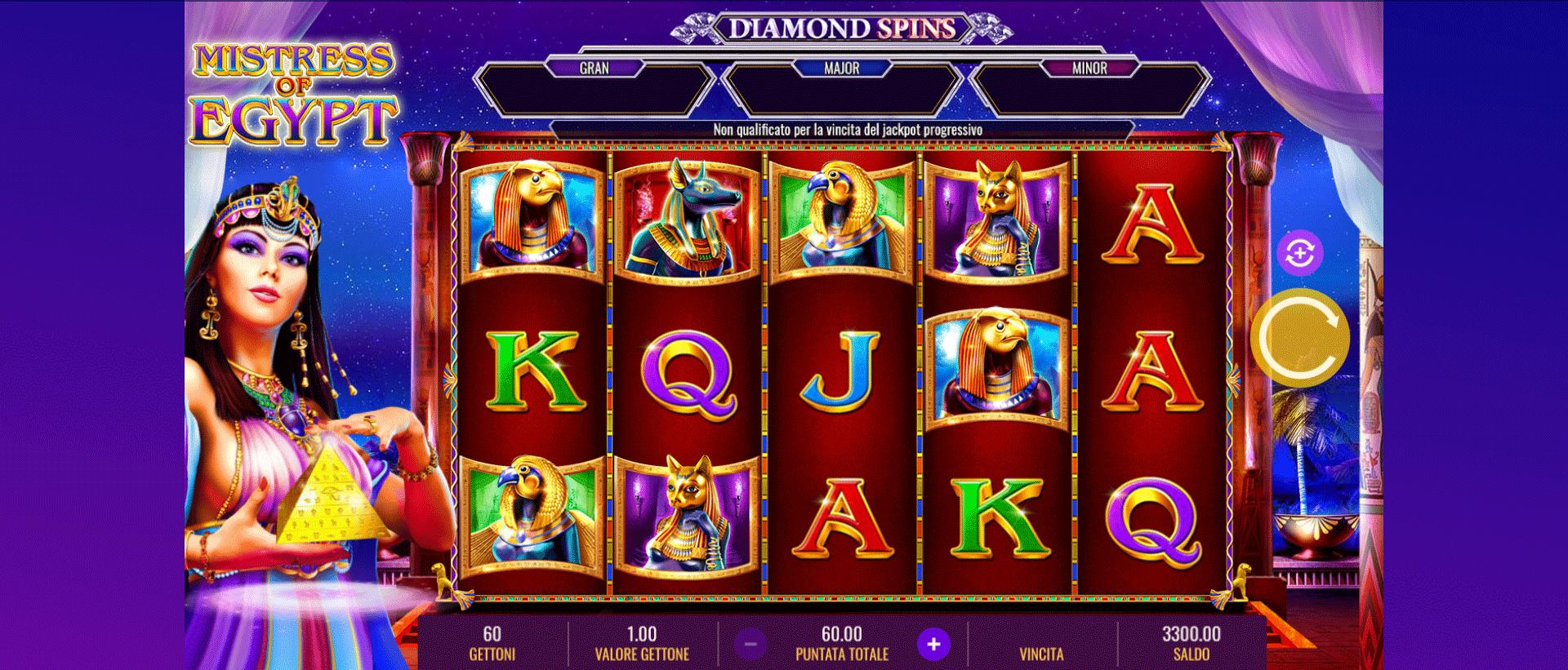 Slot Mistress of Egypt Diamond Spins