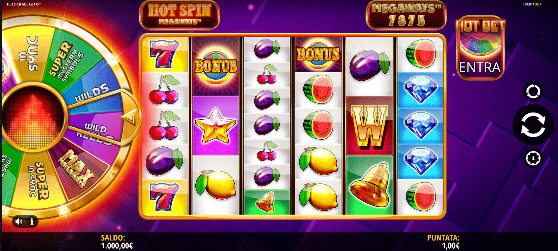 Slot Hot Spin Megaways