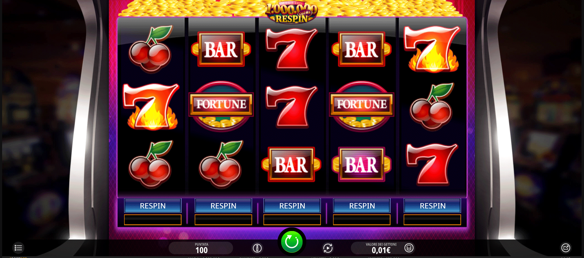 Slot Million Coins Respins