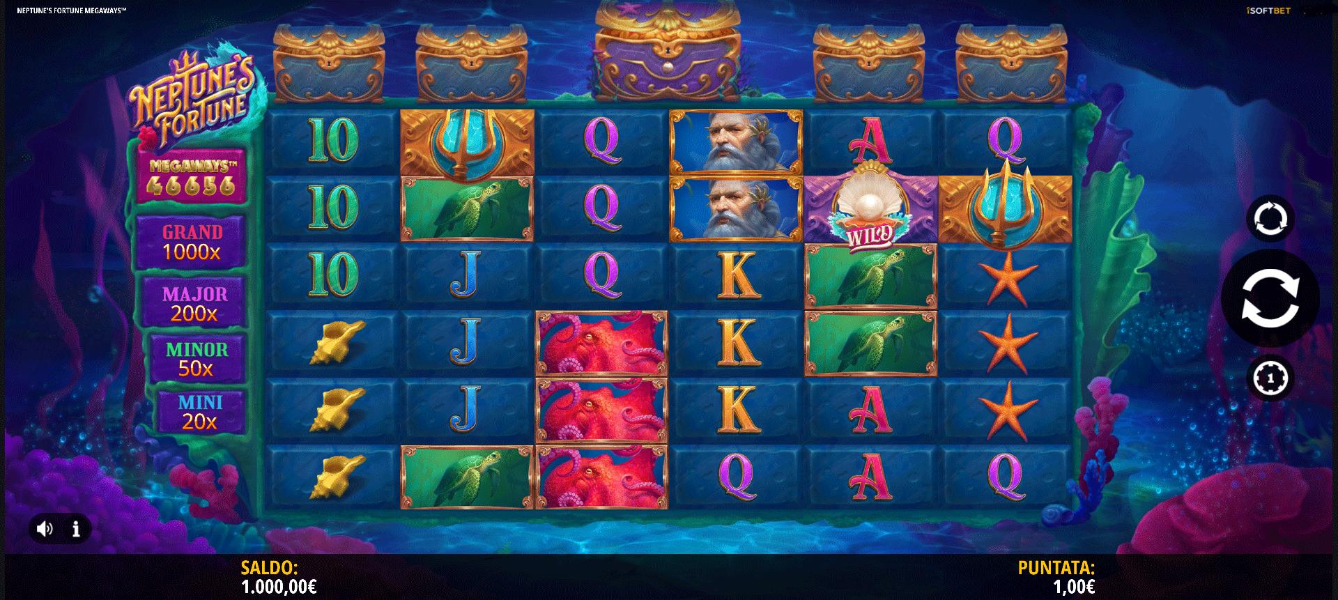 Slot Neptune's Fortune Megaways