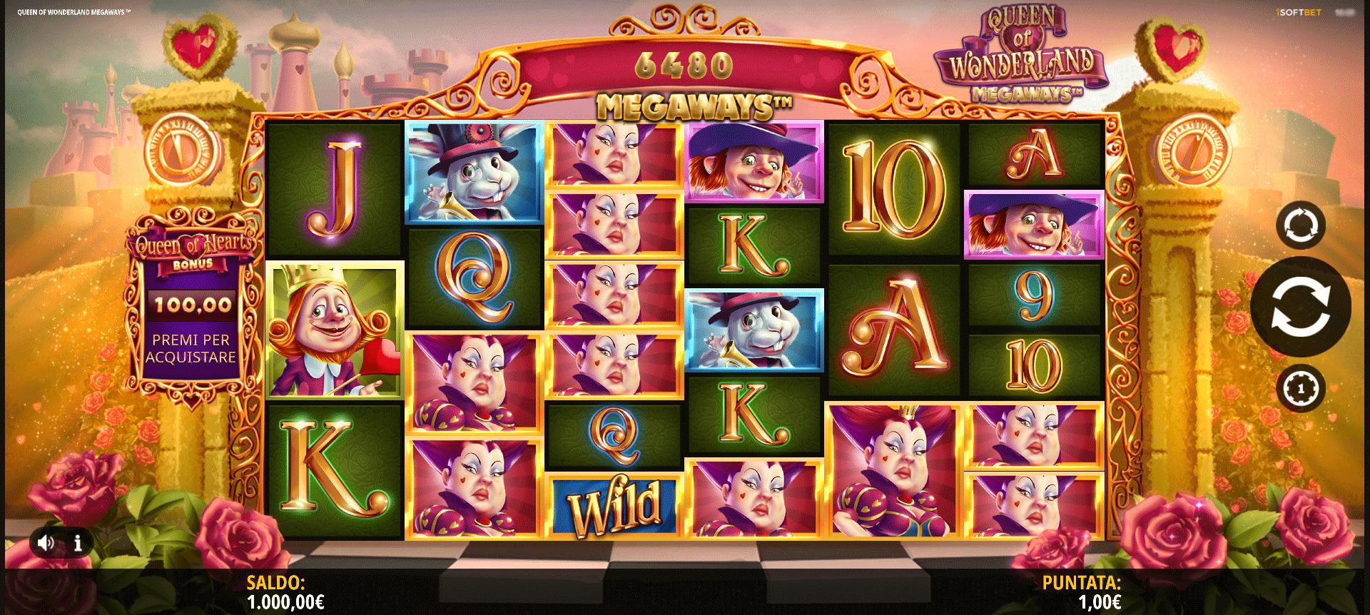 Slot Queen of Wonderland Megaways