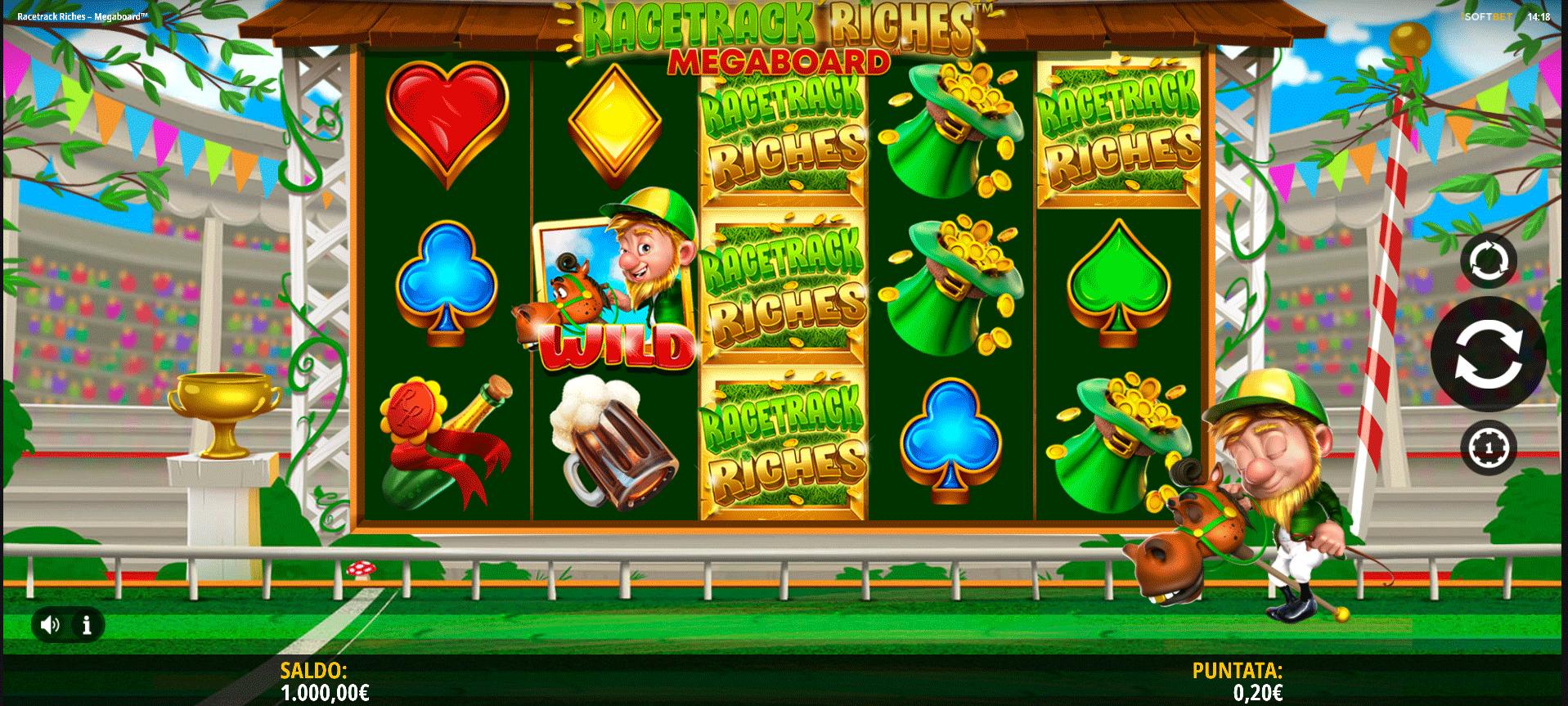 Slot Racetrack Riches Megaboard