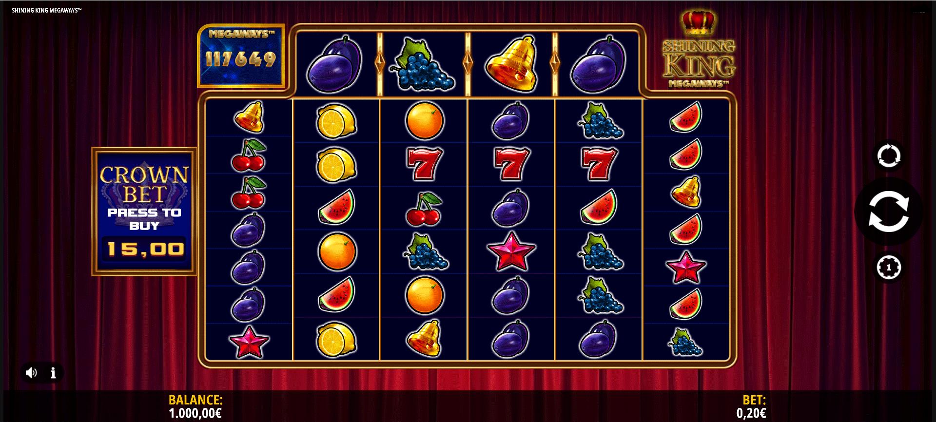 Slot Shining King Megaways
