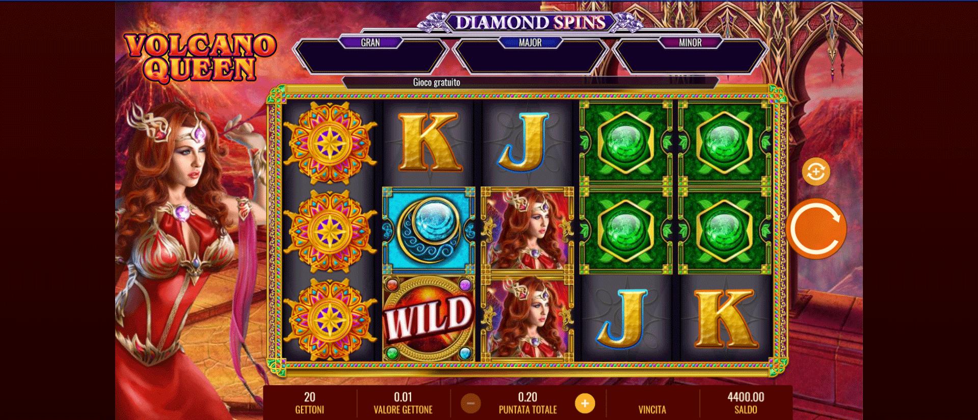 Slot Volcano Queen Diamond Spins