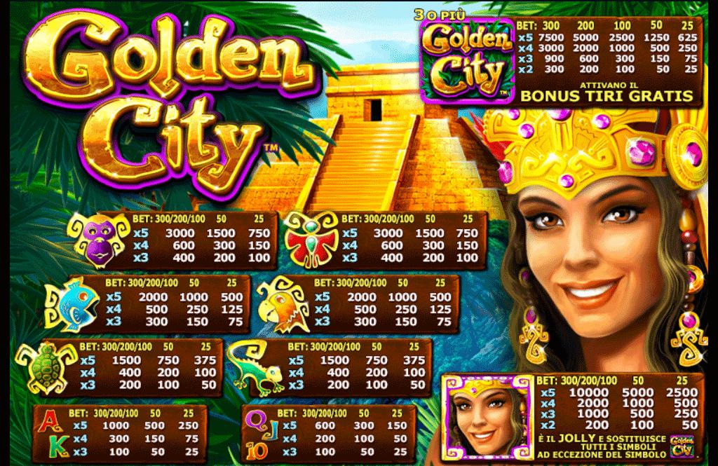 tabella dei pagamenti slot machine golden city