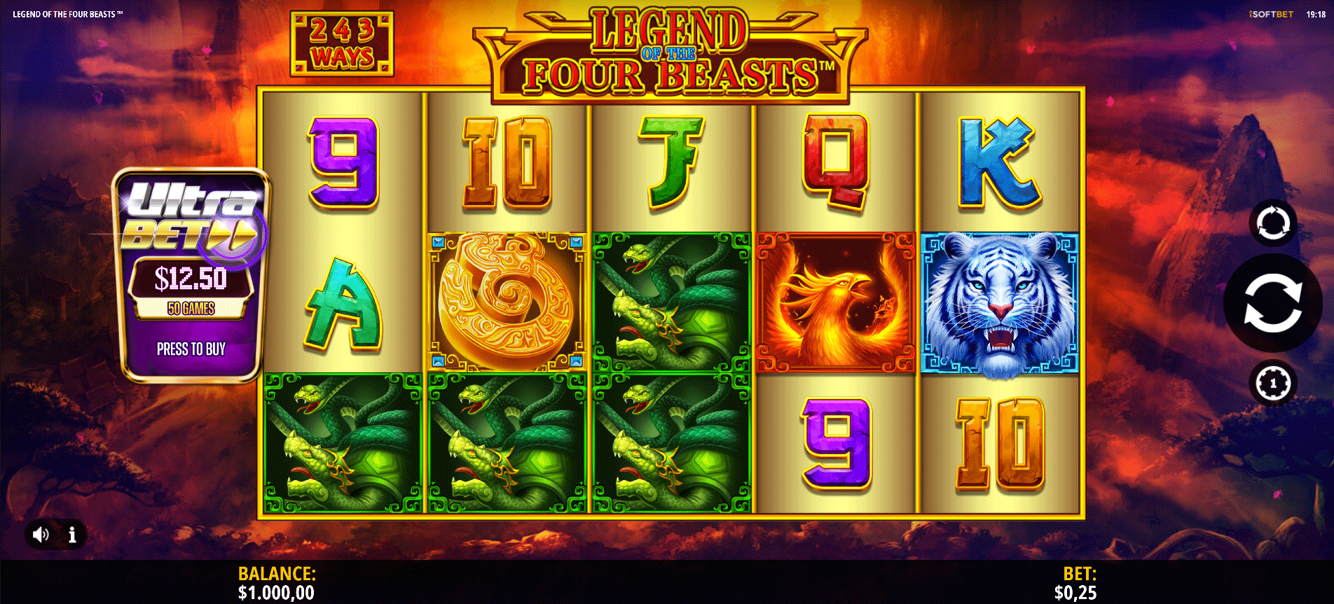 Slot Legend of the Four Beasts