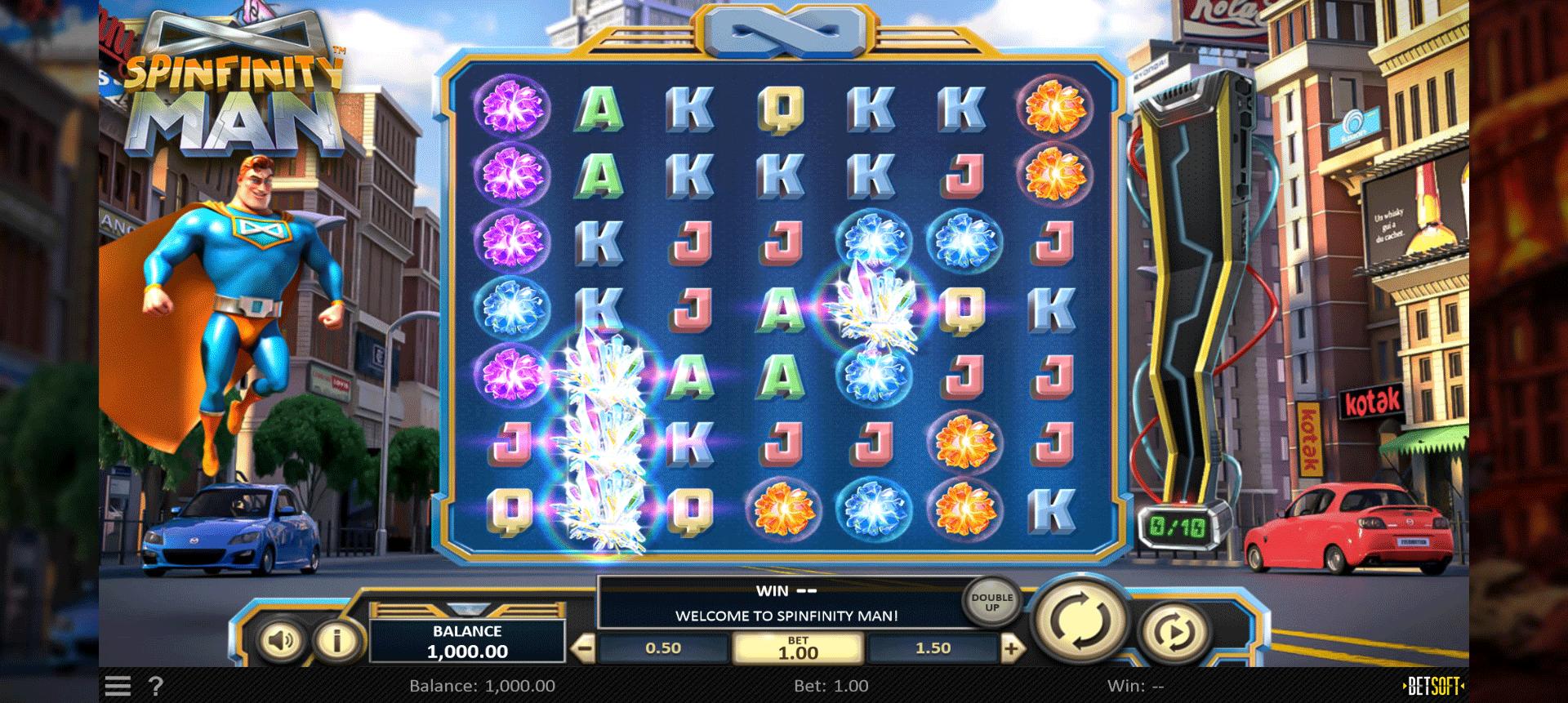 Slot Spinfinity Man